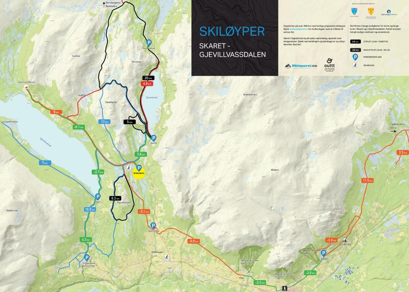 kart over oppdal Oppdal kommune